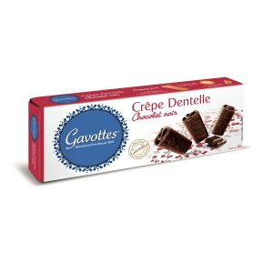 Crepe De Encaje De Chocolate Negro Gavottes