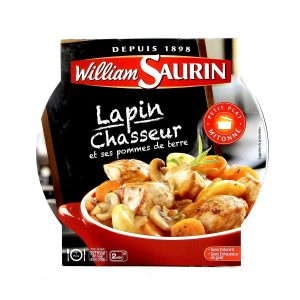 Cooked Rabbit With Mushrooms & Wine Sauce William Saurin - My French Grocery