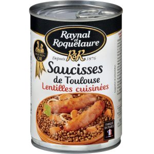 Saucisses Aux Lentilles Raynal & Roquelaure - My French Grocery