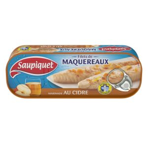 Filets De Maquereaux Au Cidre Saupiquet - My French Grocery