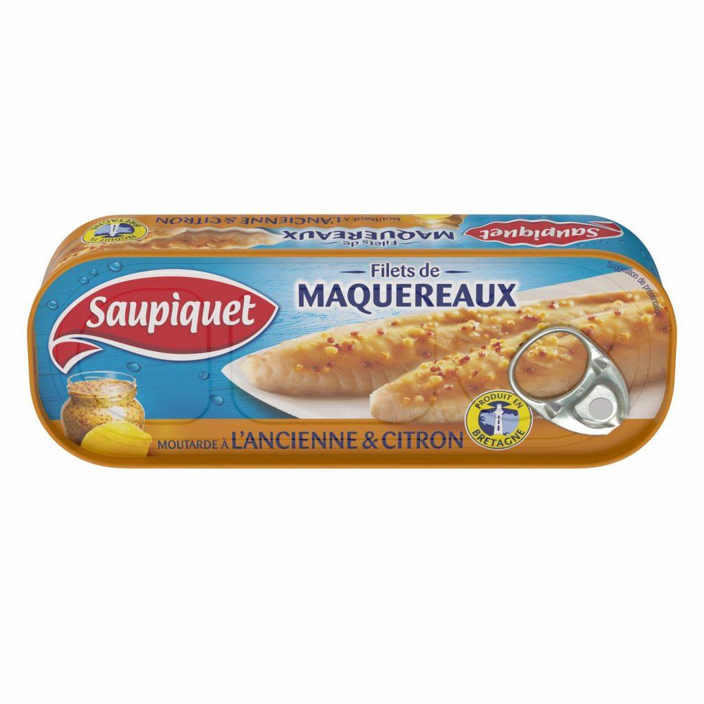 Filets De Maquereaux Au Citron & Moutarde Saupiquet - My French Grocery