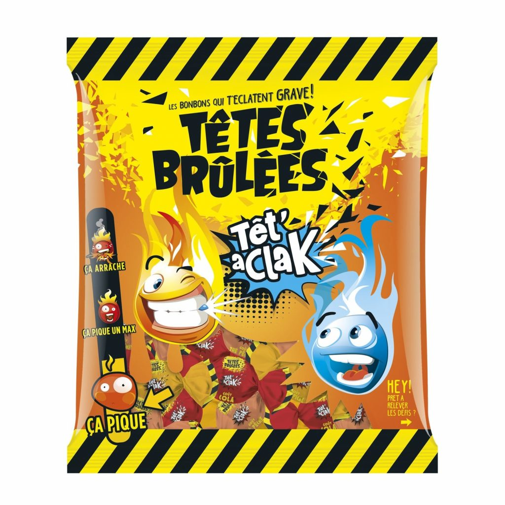 Bonbons Cola Têtes Brulées Tet' A Clak - My French Grocery