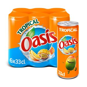 6 X Oasis Tropical Drink