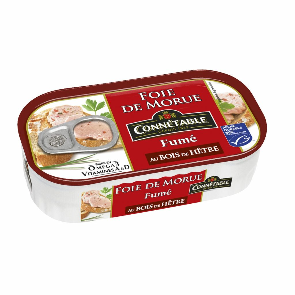 Foie De Morue Goût Fumé Connetable - My French Grocery