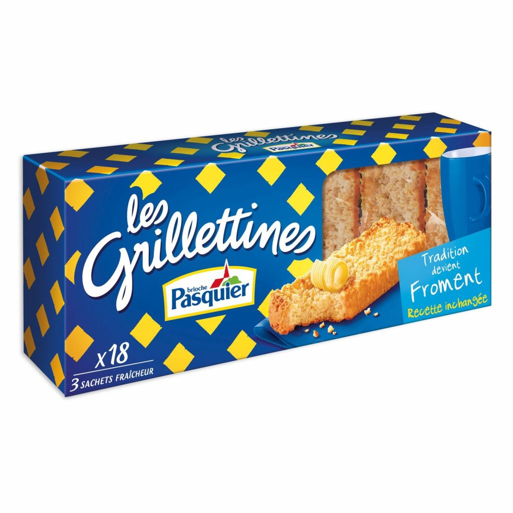 "Biscottes Froment ""Grillettines"" Pasquier - My French Grocery"
