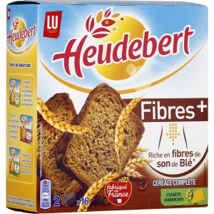 Biscottes Fibres+ Heudebert - My French Grocery