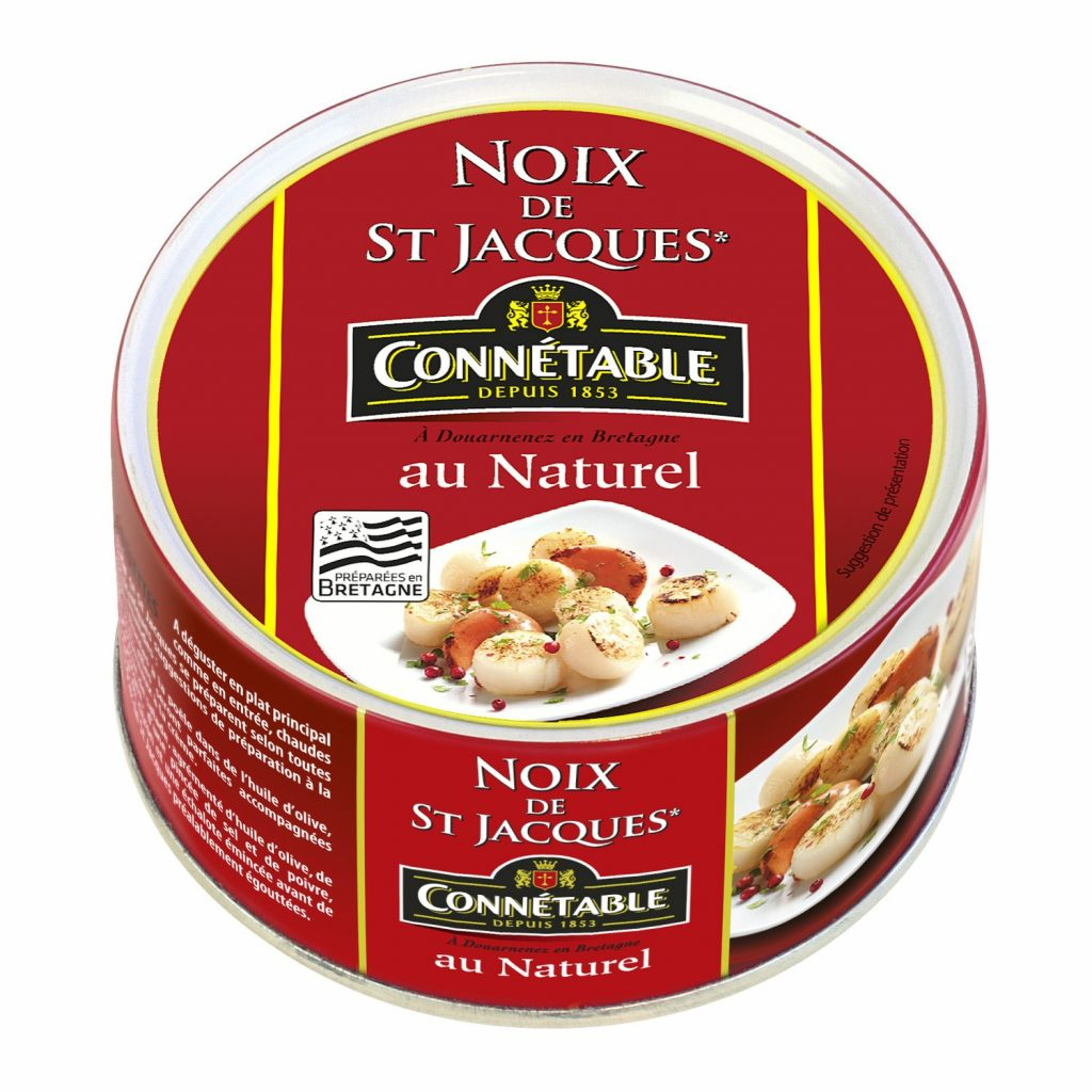 Noix De St Jacques Au Naturel Connetable - My French Grocery