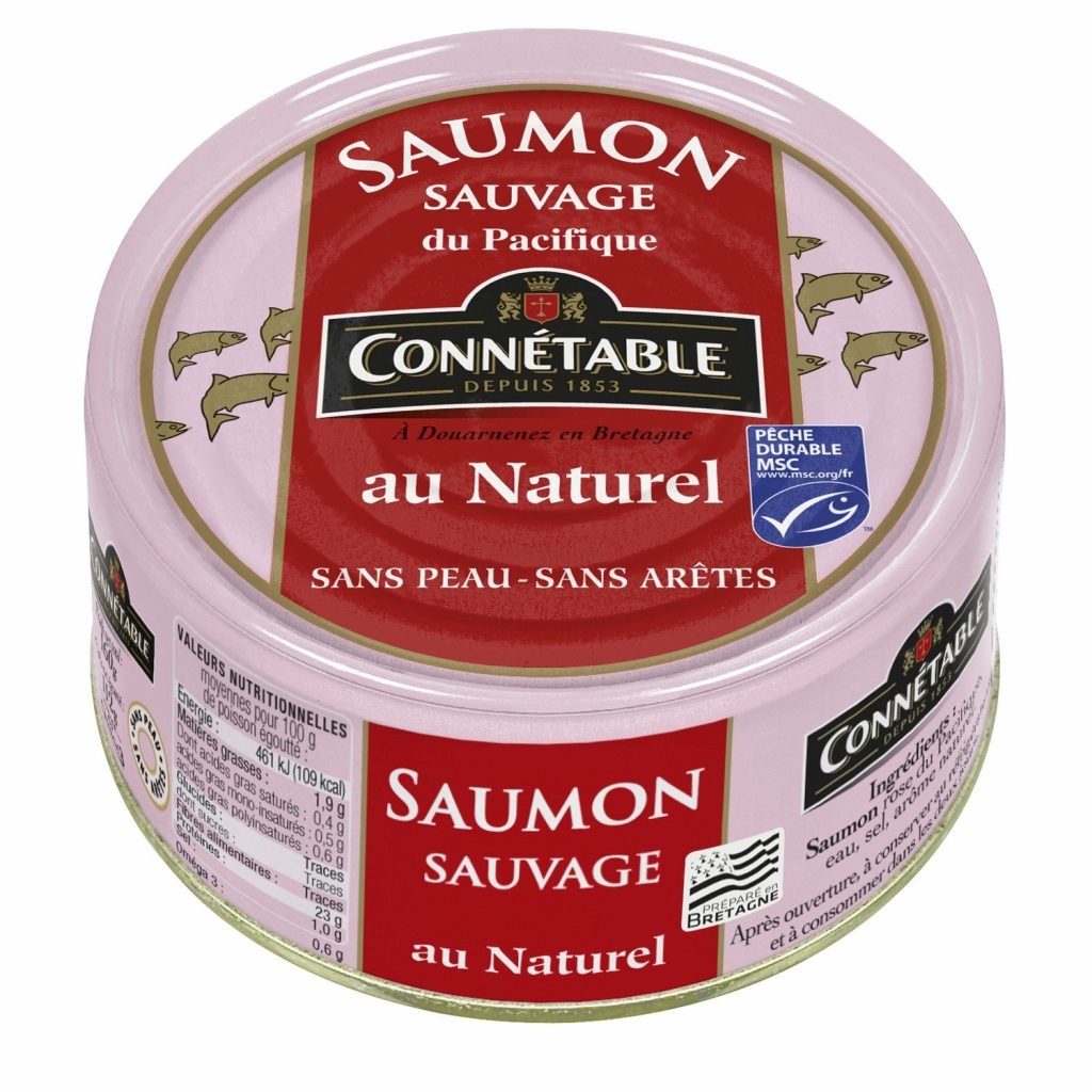 Saumon Sauvage Naturel Connetable - My French Grocery