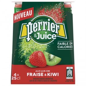Soft Drink Strawberry & Kiwi Perrier Juice
