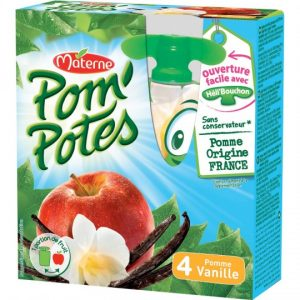 Compotes Pomme Vanille Pom'Potes Materne - My French Grocery