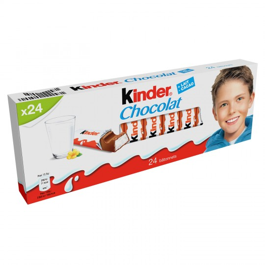 Barres Chocolatées Kinder Chocolat X 24 - My French Grocery