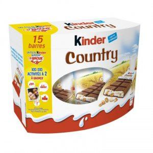 Barres Chocolatées Céréales Kinder Country X 15 - My French Grocery