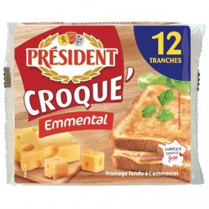 """Emmental """"Croque Monsieur"""" Cheese Président"""
