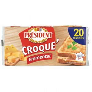 Fromage Croque Monsieur Emmental Président - My French Grocery