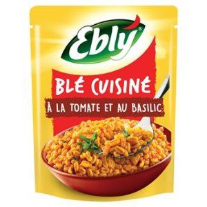 Blé Pré-cuit Cuisiné Tomate / Basilic Ebly